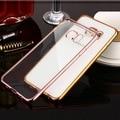 Ультра Тонкий Розовое Золото Crystal Clear Case Cover Для Samsung Galaxy J5 J7 A8 A7 A5 A3 2016 Прозрачный Гальванических Soft Phone мешки