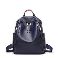 Новые туфли из натуральной кожи рюкзак путешествия Британский Для женщин женский рюкзак для отдыха студент школьная сумка из мягкой коровь