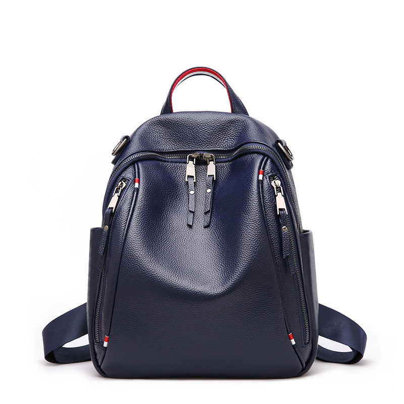 Bagaj ve Çantalar'ten Sırt Çantaları'de Yeni Hakiki Deri seyahat sırt çantası İngiliz Kadın Kadın Sırt Çantası Eğlence Öğrenci okul çantası Yumuşak inek Deri Kadın Çanta'da  Grup 1