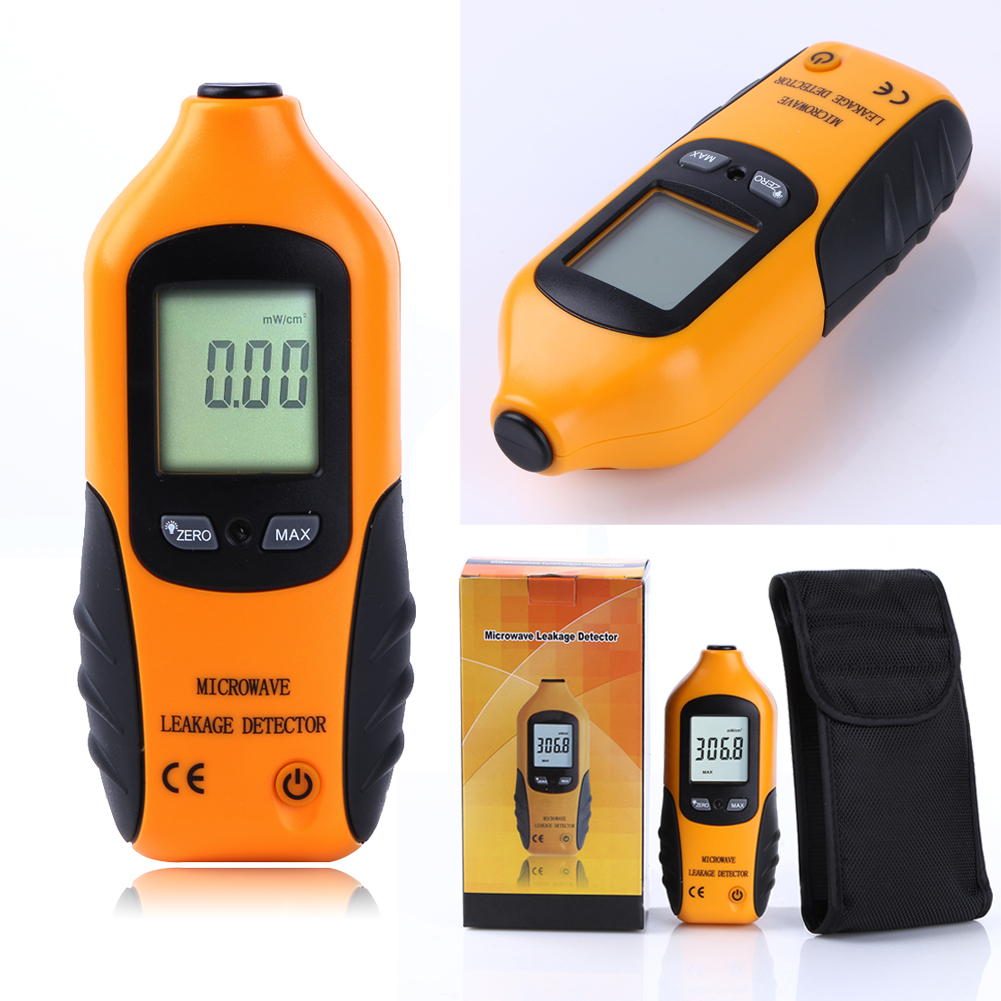 Digital LCD Display Microwave Leakage Detector Percision Radiation Meter Microwave Leaking Tester with Alarm and Light