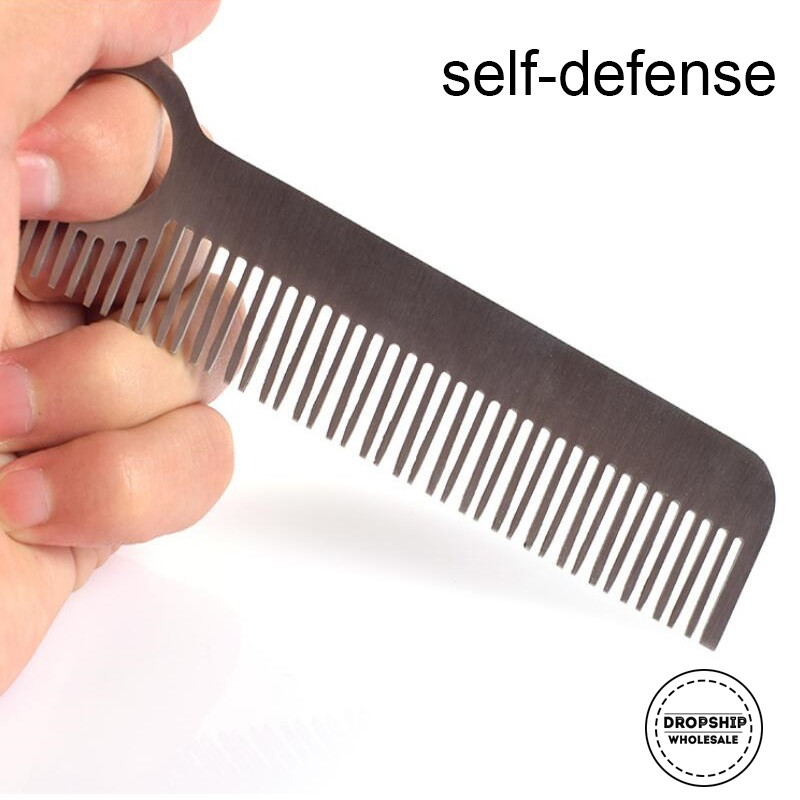 Super Hard Stainless Steel Tactical Comb Camping Emergency Self Defense Survival Tools Outdoor Convenient Combs EDC GEAR