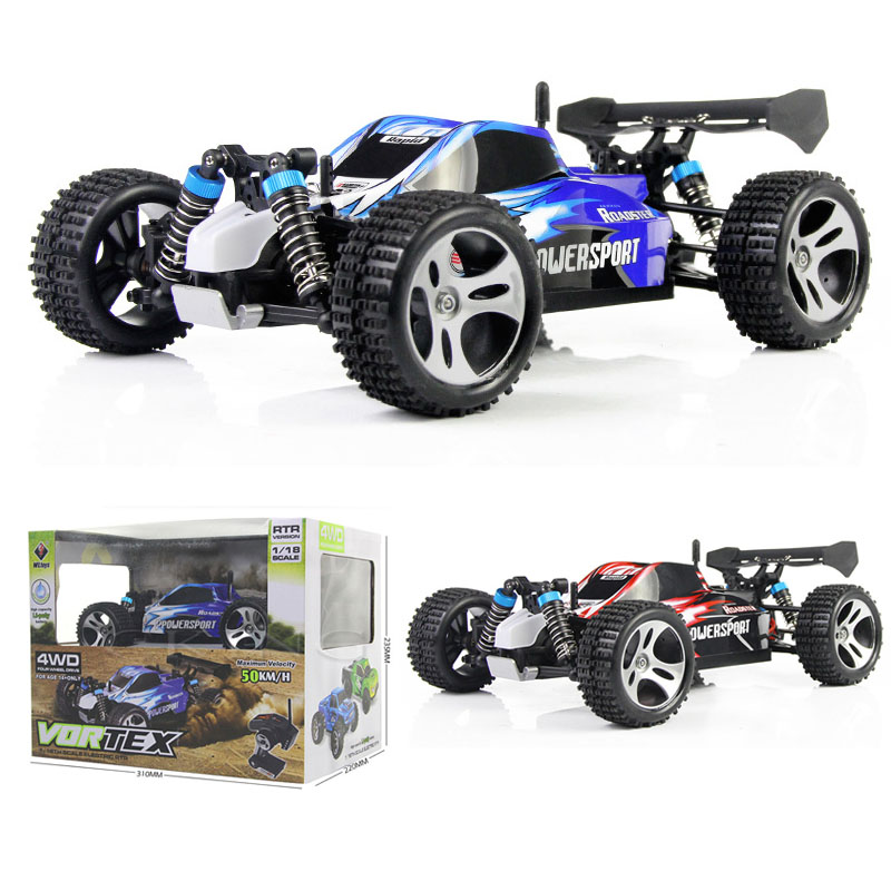 Super Power A959 Remote Control Car 4WD 2.4G 4CH Shaft Drive Topspeed 50KM/H Off-Road Dirt Bike Stunt Racing RC Car 1:18 Scale