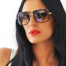 Gafas de Sol cuadradas Hombres Flat Top Mujeres Marca de Lujo de Diseño Pareja Caliente Señora Celebrity Gafas de Sol Super star Gafas de Brad Pitt