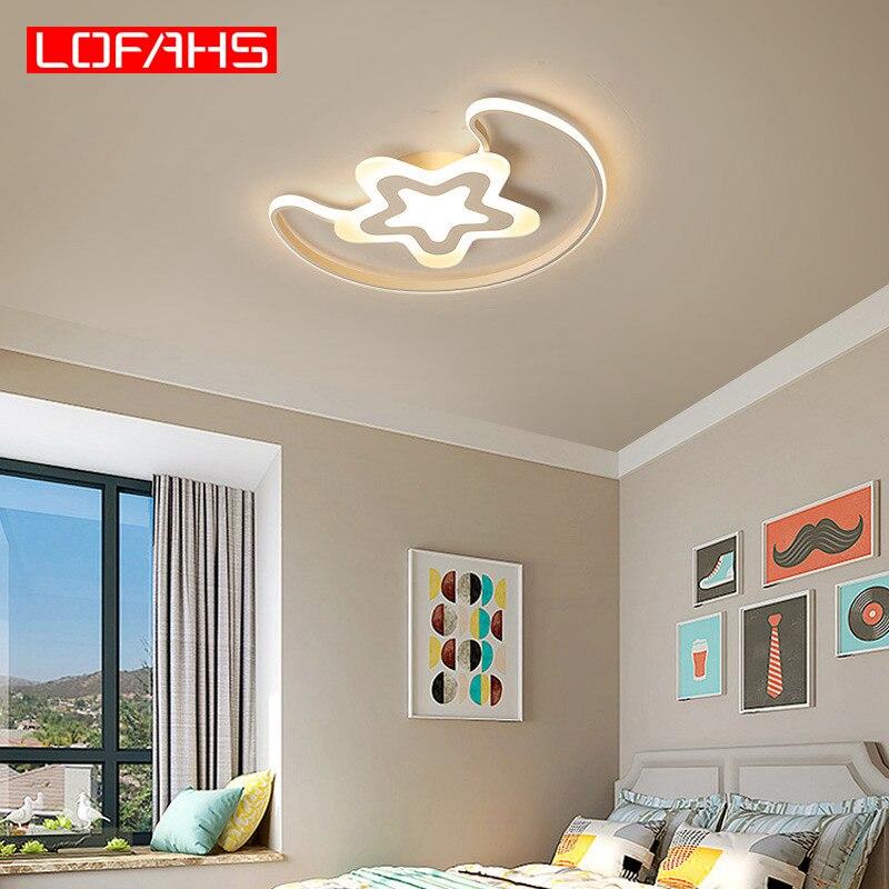LOFAHS moderne led lustre pour enfants chambre enfants lit chambre bébé plafond lustre lampe éclairage étoiles et lune PJ-491