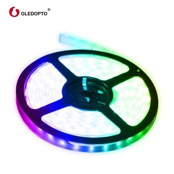 Gledopto RGB  CCT LED قطاع ضوء rgb ww/cw DC12-24V 5 متر ip65 مقاوم للماء ip20 لا مقاوم للماء rgb ضوء مصلحة الارصاد الجوية 5050 مصلحة الارصاد الجوية 2835