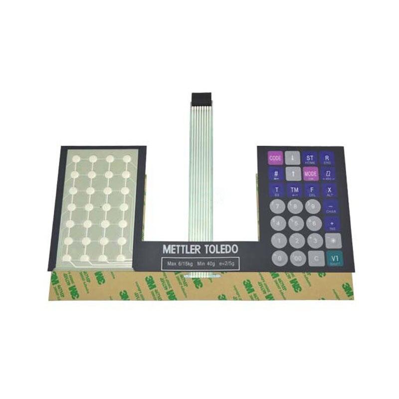SEEBZ Version anglaise Film de clavier pour Mettler Toledo 3600 3650 3680 Film de clavier électronique Blance (édition de renforcement des touches)