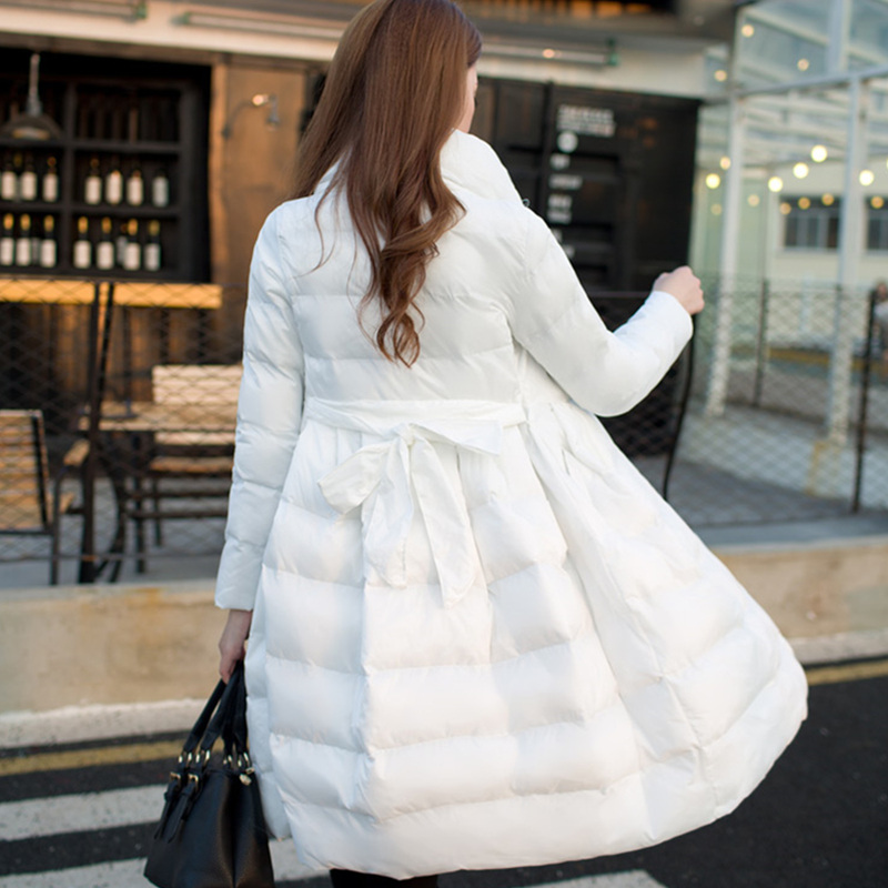 white Haute New Manteau Élégant Femmes Style Femme Mode Casual Parkas Rembourré Jq343 Veste Stand Col Épais Hiver Ceintures red Lady Qualité black Beige BaOEwPqxa