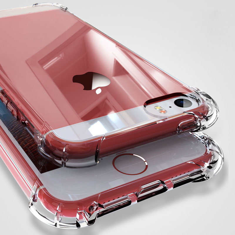 Clear Shockproof Phone Cases For Iphone 6 7 8 X XS Case Silicon TPU Soft Transparent Cover For Iphone XR XS Max Case Clear Coque
