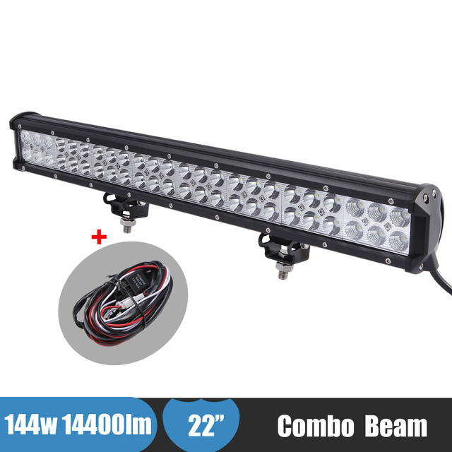 144w 4x4 led light bar offroad auxiliary light combo atv suv truck 144w 4x4 led light bar offroad auxiliary light combo atv suv truck car led spot light mozeypictures Gallery