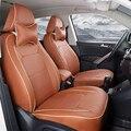 Calidad de cuero de LA PU del asiento personalizado para Audi q7 coche accesorios interiores del coche personalizado cubierta del coche cubierta del asiento con reposacabezas negro