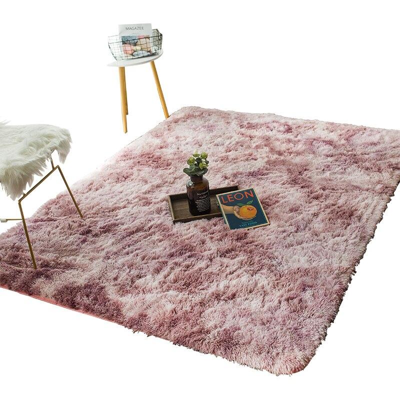 Personnalisé personnalisé tapis chambre pleine boutique salon table basse entrée porte teinte dégradé mode simple épais tapis de sol