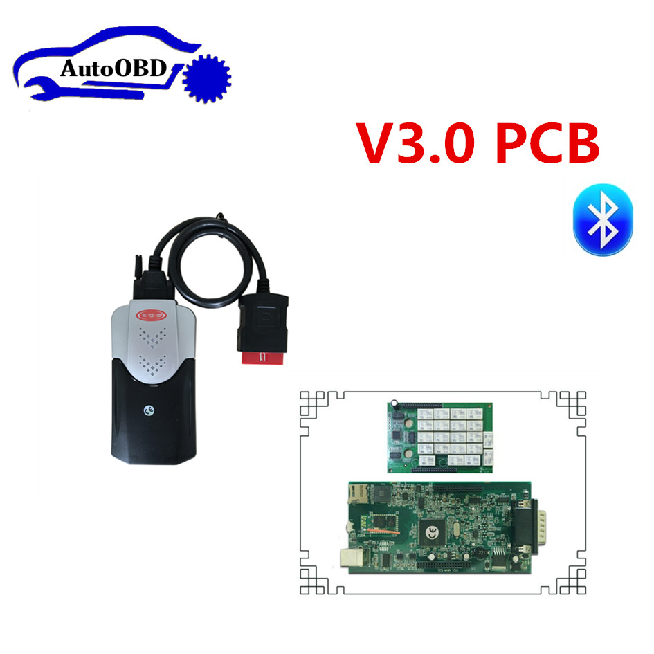 2015.3 with keygen/2016.0 free active v3.0 pcb green board! VD TCS cdp pro plus work for CARs with Bluetooth can choose cdp pro