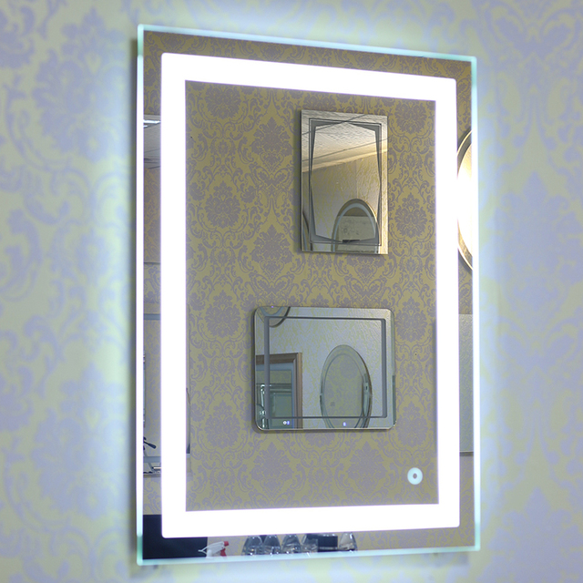 Led Lighted Illuminated Bath Vanity Wall Mirror Touch Cosmetic Makeup Home Bathroom Decorations Hot