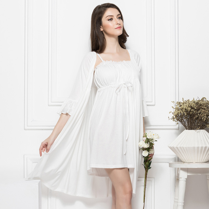 Maternity Clothes Womens Sleepwear Dress Pajamas Sling Nightdress Nightgown  Pregnant Women Two piece Pajamas Lace Dress CE722-in Sleep   Lounge from  Mother ... 912def55e