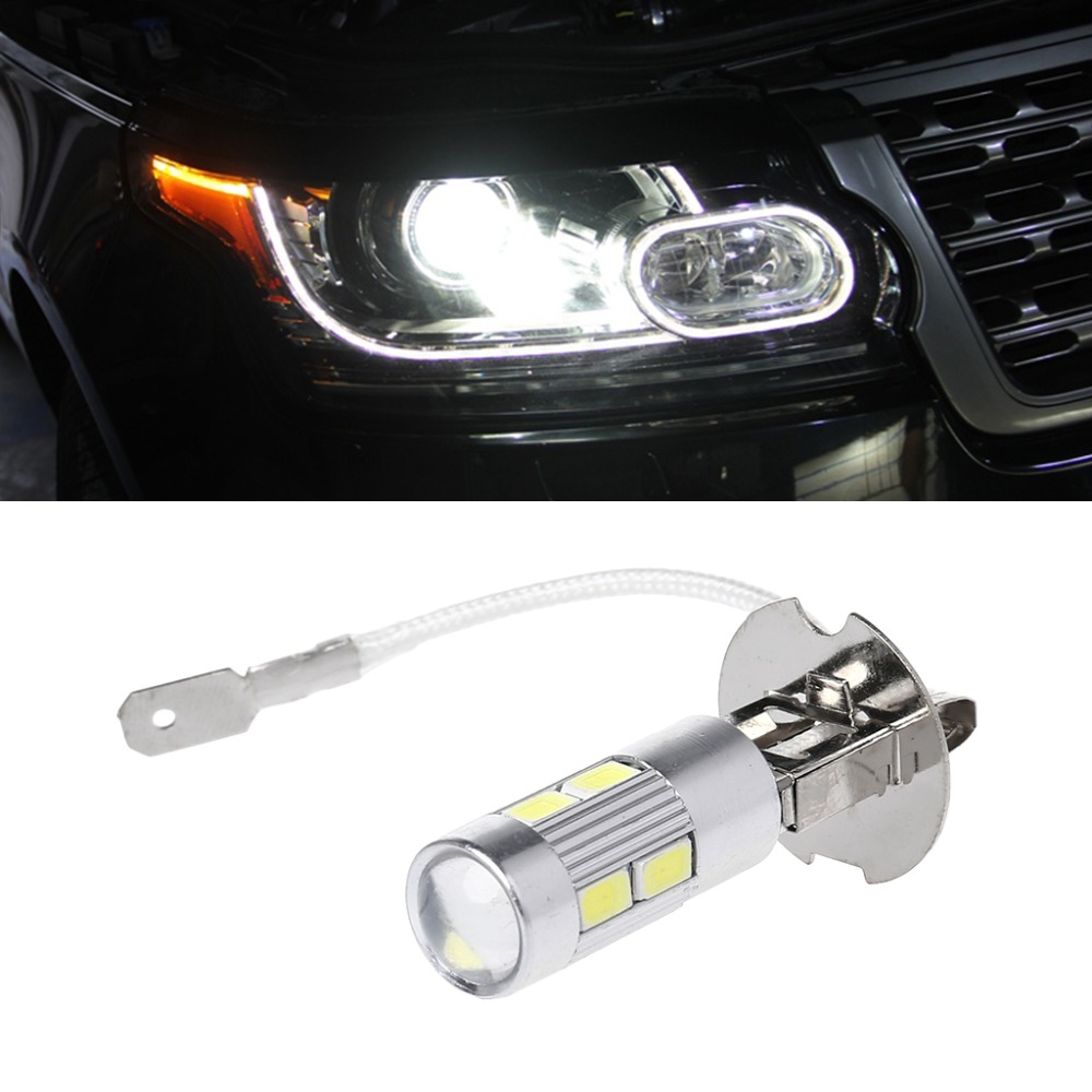 1Pc High Quality Aluminum H3 White 10 LED 5630 SMD Fog LED Auto Bulb Tail Turn Driving Light High Beam