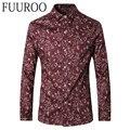 Camisa dos homens 2016 Novo Floral Camisas Dos Homens Moda Casual Marca Men Camisa Masculina CBJ-T0067