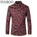 Men Shirt 2016 New Floral Men Shirts Fashion Casual Brand Men Camisa Masculina CBJ-T0067