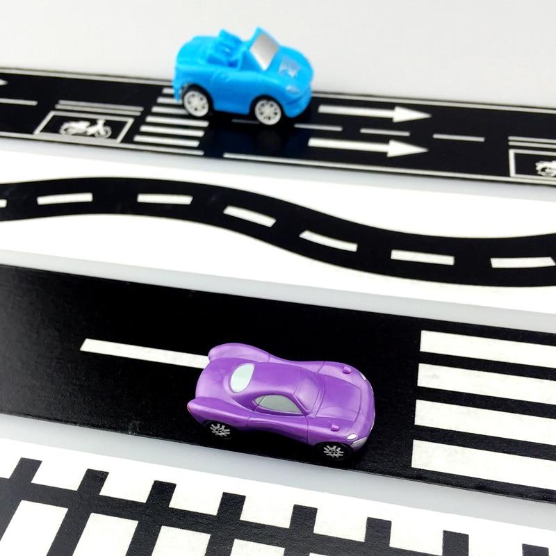 все цены на  High Quality Black 50.8mmX5m Railway Road Washi Tape Wide Creative Traffic Road Adhesive Masking Tape Road for Kids Toy Car Play  онлайн