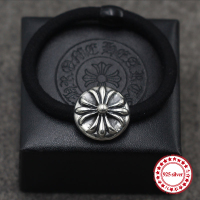 S925 Sterling Silver Headband Personality Retro Hip Hop Punk Style Round Cross Hair Accessories To Send