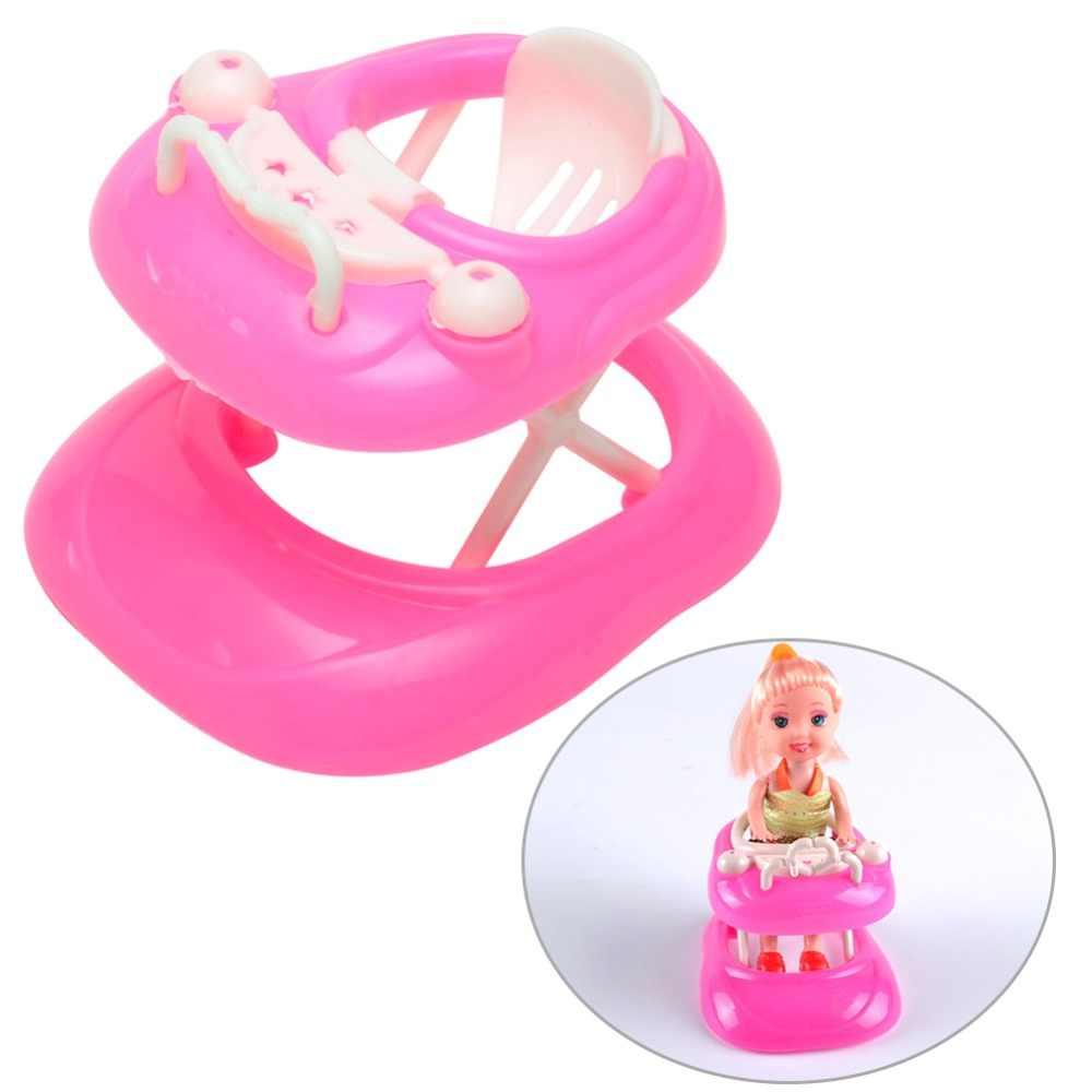 Novo 1:6 Walker Brinquedos para Casa de Boneca Casa De Bonecas Em Miniatura De Plástico Rosa Exibição