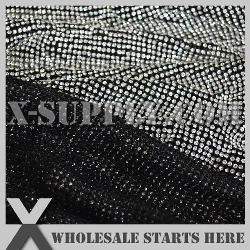 P1 3mm Metal Rhinestone tkaniny arkusz siatki w kolorze czarnym metalowa podstawa bez żelaza na kleju, wykorzystywane do odzieży, kołnierz, buty, stół w Kryształy górskie od Dom i ogród na  Grupa 3
