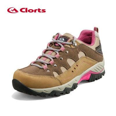 cd17378aab Zapatos para caminar al aire libre unisex CLORTS hombres mujeres cuero  genuino impermeable camping senderismo zapatillas