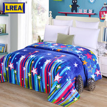 Brand home textile 4 sizes warm star Fleece Throw Blanket cover on the bed Super Soft