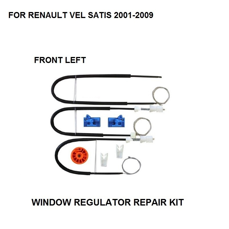 2001-2009 WINDOW REGULATOR COMPLETE CLIP SET FOR RENAULT VEL SATIS WINDOW REGULATOR REPAIR KIT FRONT-LEFT SIDE