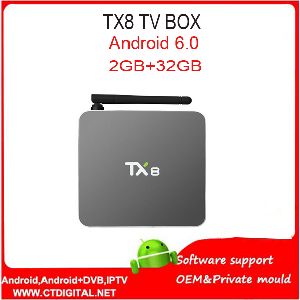 Android TV Box TX8 Android 6.0 Amlogic S912 Octa core Set top box 2G 32G HDMI H.265 WIFI Media Player Smart tv box VS TX8 MAX
