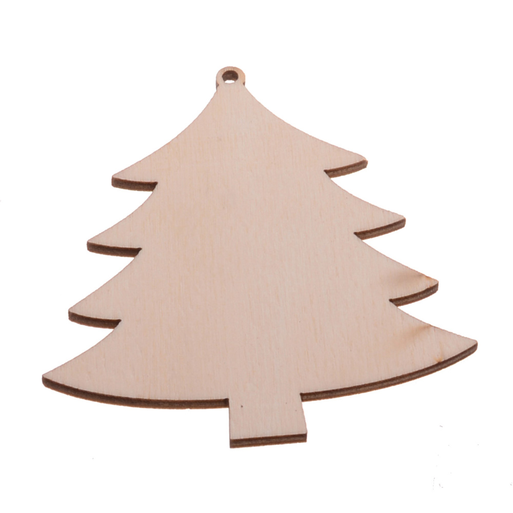 10x wooden christmas tree craft decoration shapes gift diy card making blank xmas wedding decorations mdf dector gifts in charms from jewelry accessories - Blank Christmas Tree