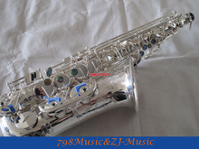 Professional Silver Plated Alto Saxophone Eb sax Abalone Shell Key High F# W/Case