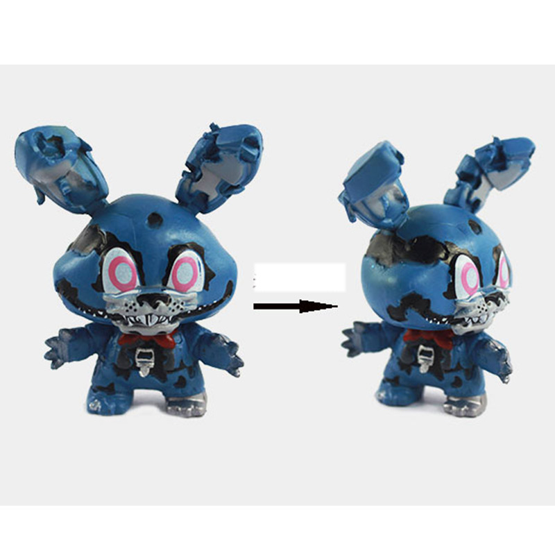 New 8pcs/set 5cm Anime Five Nights At Freddys Vinyl Doll Nendoroid Mini Figures Toys for Kids Collectible Model Gifts In Opp Bag 3