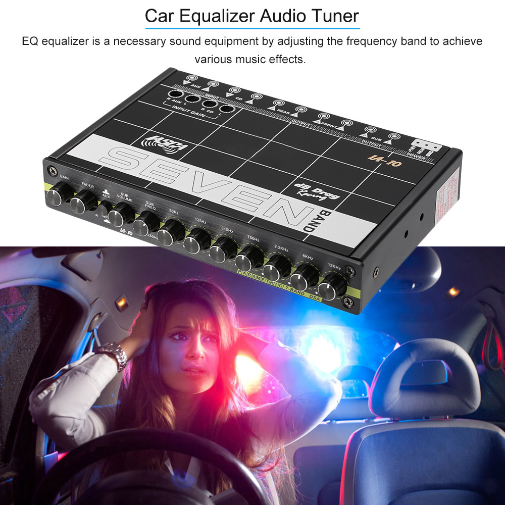 KKMOON Car Audio Modified Car Equalizer Fever Class EQ 7 Equalizer Car Audio Tuner car styling