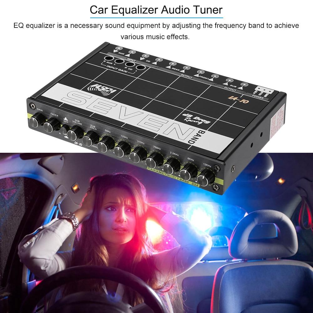 KKMOON Auto Audio Modifizierte Auto Equalizer Fieber Klasse EQ 7 Equalizer Auto Audio-Tuner auto styling für Auto audio Für BMW Ford VW