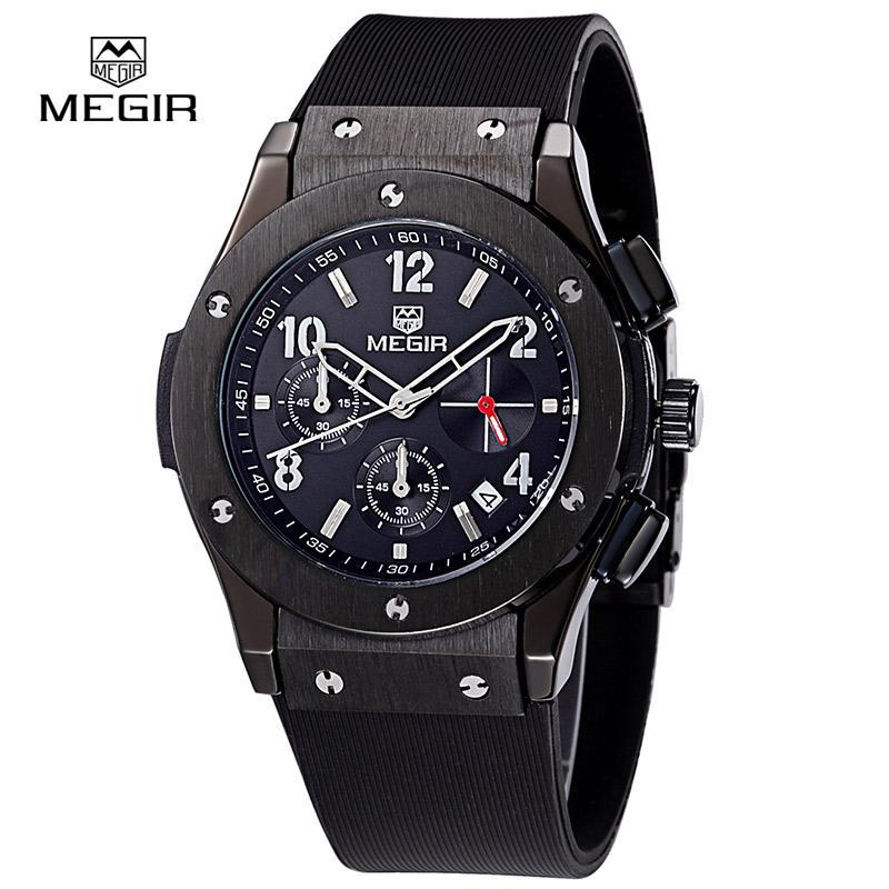 Prix pour Megir chaude marque hommes quartz chronographe montres relojes heuer homme montre à sports occasionnels mode horloge montre hommes-3002 M Bracele