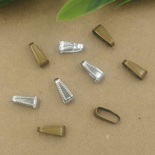 11*5mm Oval Buckle Copper Pendant Bails Clips Rhodium/Antique Bronze Plated Pendant Clasps DIY Jewelry Parts(China)