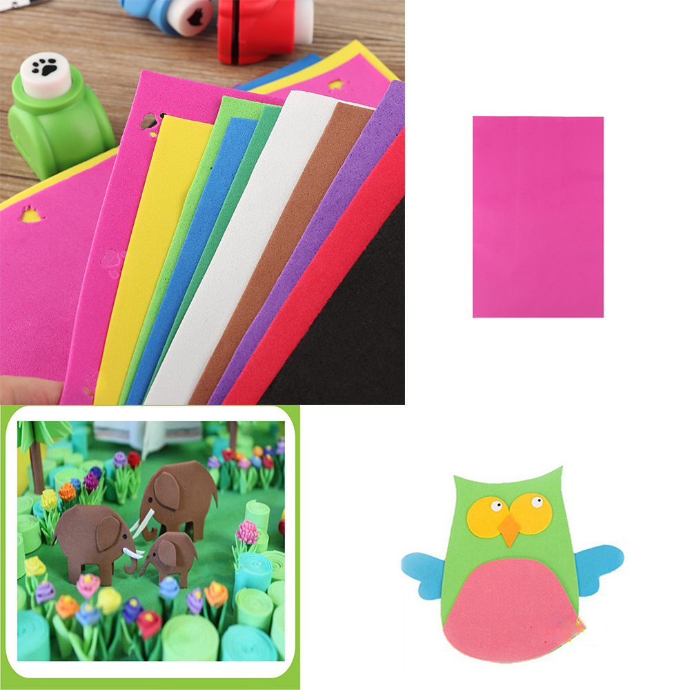 10pcs DIY Sponge Foam Paper Fold Scrapbooking Paper Crafts for Kids ...