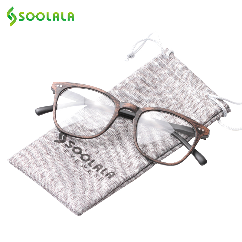 3710884b5b SOOLALA Bamboo Reading Glasses Women Mens Eyewear Frames Woodgrain Reading  Glasses with Spring Hinge Arms +1.0 to 4.0-in Reading Glasses from Apparel  ...