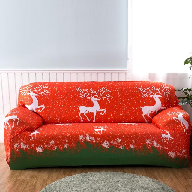 Stretch Sofa Covers Merry Christmas All Inclusive Elastic Couch Cover  Furniture Covers Slipcovers 1/