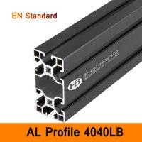 4080LB Aluminium Profile Black EN Standard Brackets DIY Workbench AL Extrusion Rectangle Type CNC 3D DIY