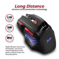 Zelotes 2.4G Charging Gaming Mouse USB Receiver 30 Meters Wireless Connection mechanical mouse with USB receiver For Pro Gamer