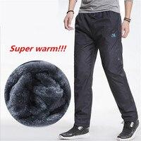 3XL Super Warm Winter Fleece Thicken Men S Casual Pants Heavyweight Men S Trousers Winter Waterproof