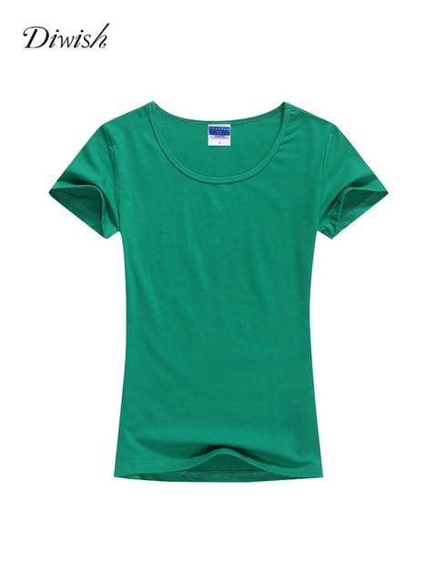 Diwish Short Sleeve T Shirt Cotton Women Casual O-Neck Summer Tops for Women 2019 Plain T Shirt Women Basic Tshirt Tops