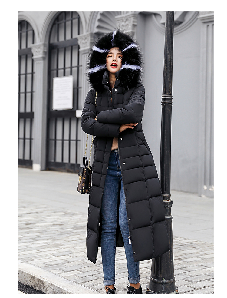 Wadded Long Coat Snow 9