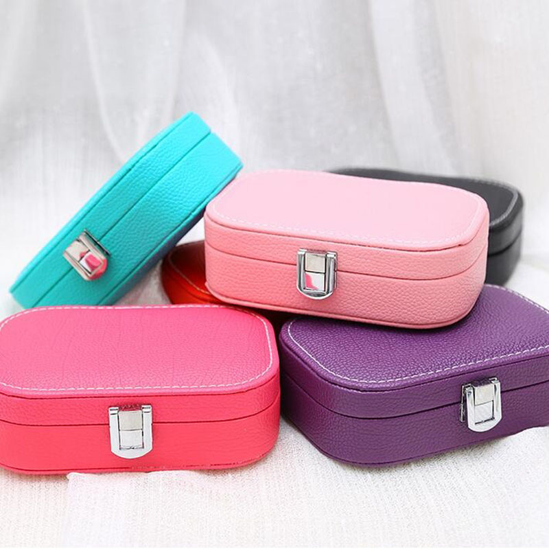 Creative Jewelry Box PU Leather Casket For Jewelry Travel Case With