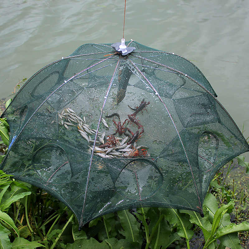 WALK FISH Folded Portable Hexagon 8 Hole Automatic Fishing Shrimp ...