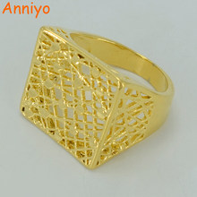 Anniyo Africa Ring for Women/Men,Gold Color Ring Ethiopian Wedding Jewelry/Arab/India/Nigeria/Middle East #012302(China)