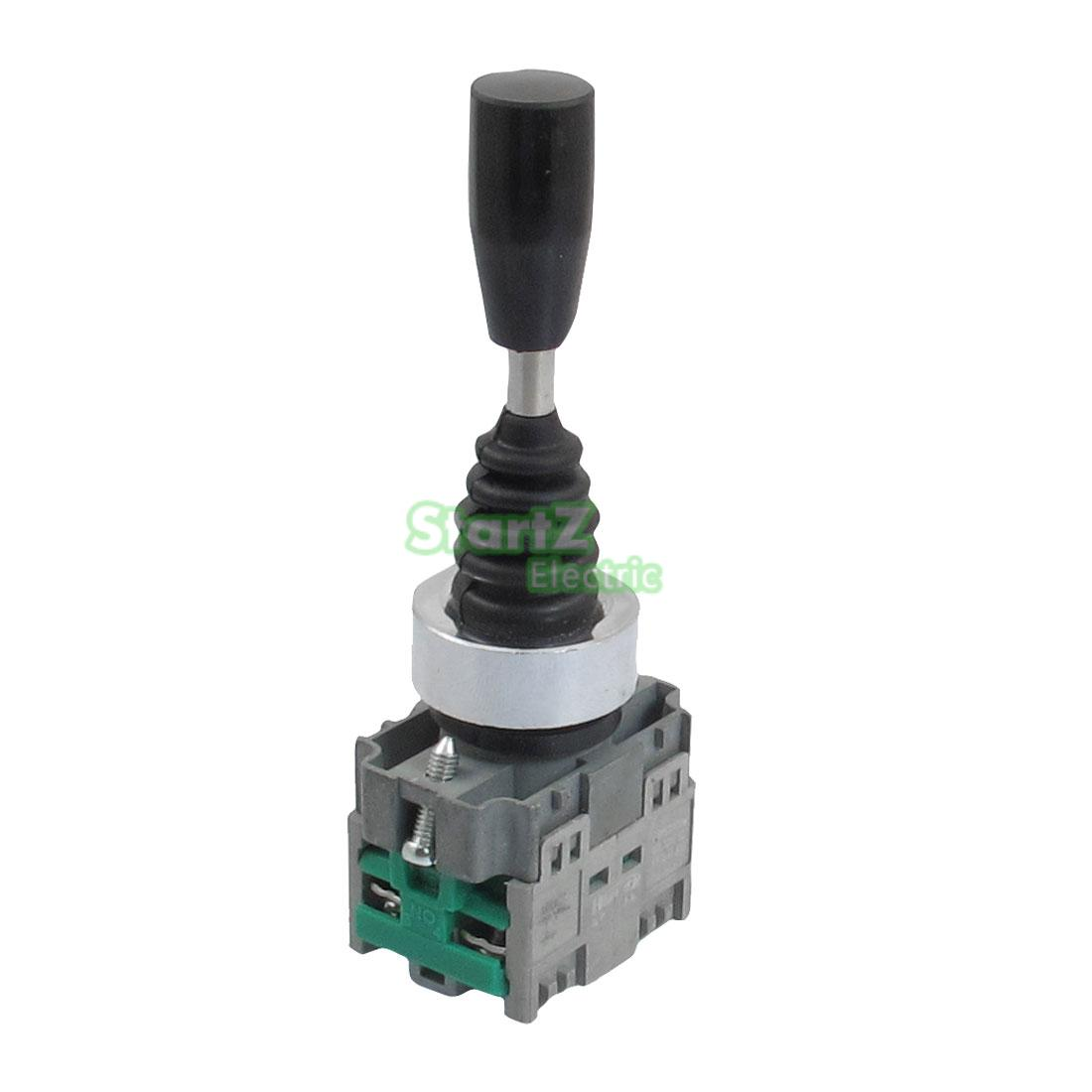 22mm 2NO 2Position Self-locking Type Monolever Joystick Switch Cross Button Switch HKL-D12 tn2ss rotary button switch gear selection type 2 22mm with self locking