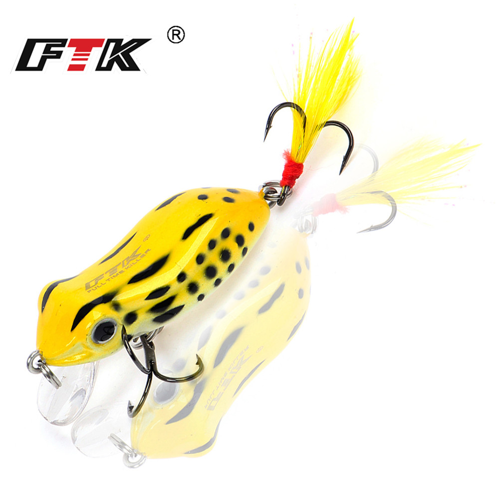 FTK Professional Colorful Hard Frog Fishing Lure 1pcs/lot 50mm 6.5g Topwater Sinking Floating Fishing Crankbait Wobblers Tackle