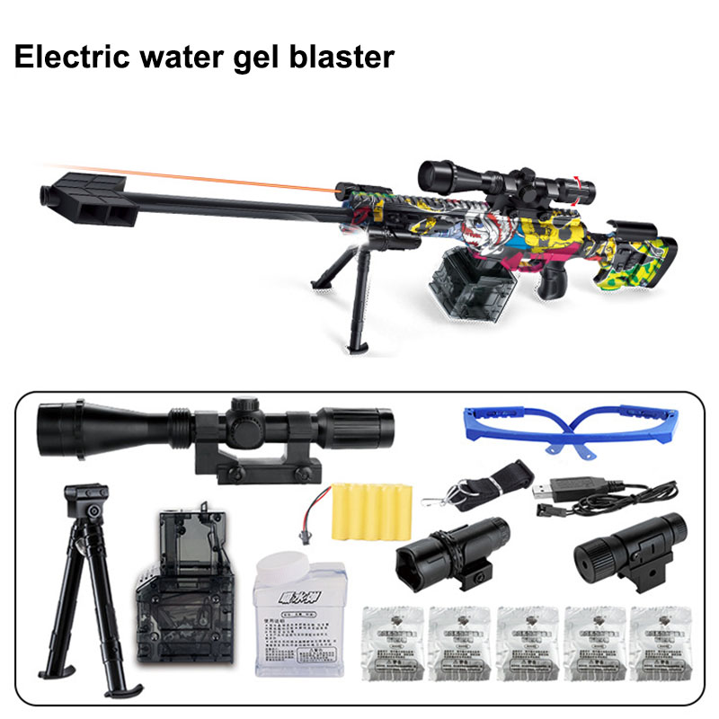 Barrett électrique graffiti sous l'approvisionnement du feu peut être lancé cristal bombe jouet pistolet simulation eau oeuf 66077-1